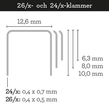 Skrebba häftklammer - sadel / broschyr och block